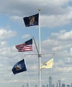Single-Masted-Nautical-Flagpole-With-Yardarm-Gaff