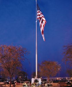 Stainless Steel Flagpole-100'-Cone-Tapered-Pelco